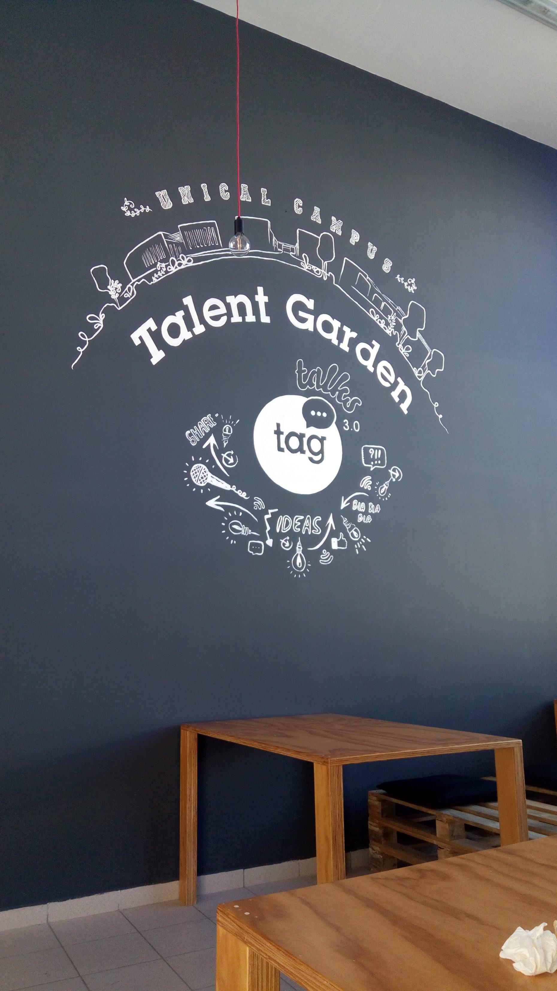 Parete Dipinta A Lavagna talent garden rende – ghirigori art